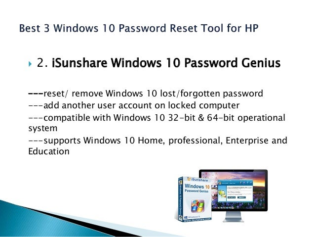 The 3 most popular windows 10 password reset tools