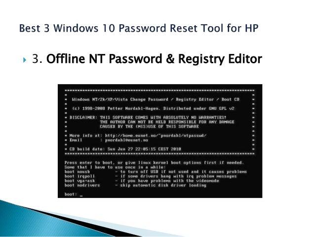 The 3 most popular windows 10 password reset tools
