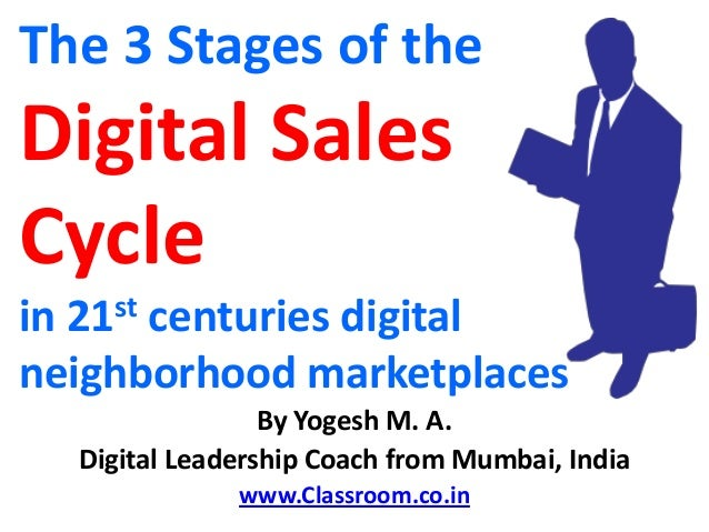 The 3 Stages of theDigital SalesCyclein 21st centuries digitalneighborhood marketplaces                 By Yogesh M. A.  D...