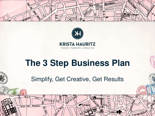 The 3 Step Business Plan Simplify, Get Creative, Get Results