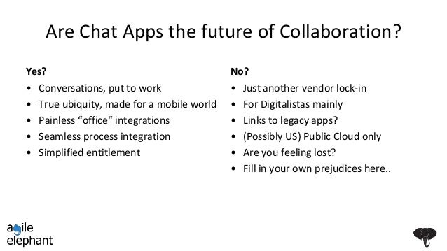 The 3 things you can't ignore for 21st Century collaboration - mobile, legacy and group chat
