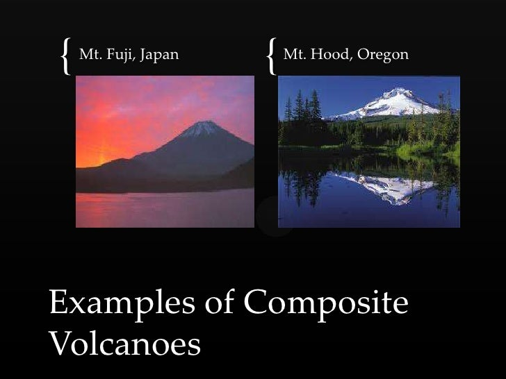 Types of volcanic eruptions.