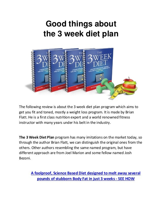 3 WEEK DIET JOSH BEZONI PDF