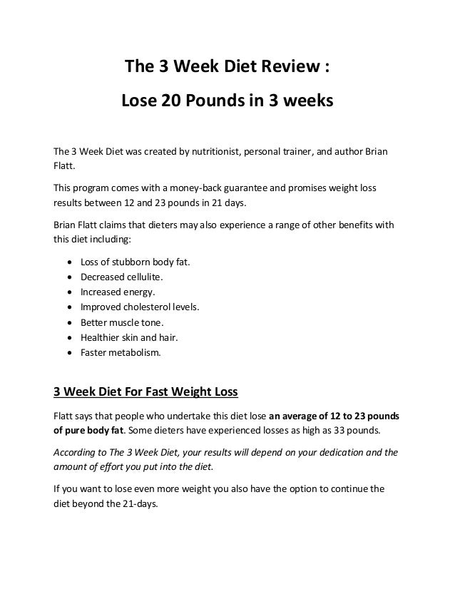 The 3 Week Diet System How To Lose Weight Fast