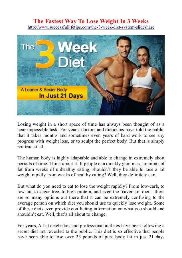 The fastest way to lose weight in 3 weeks the fastest way to lose weight in 3 weeks httpsuccessfullifetips ccuart Image collections