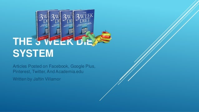 How To Lose Weight The 3 Week Diet System[1]