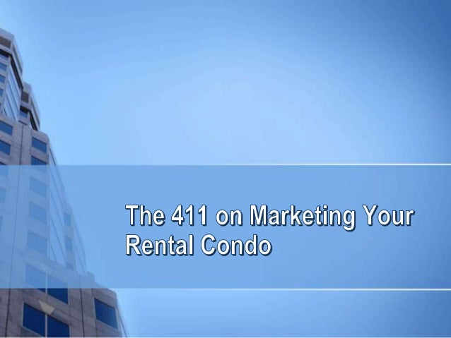 Renting out a condominium property is not a walk in the park. High rise condos are being built left and right and there ar...