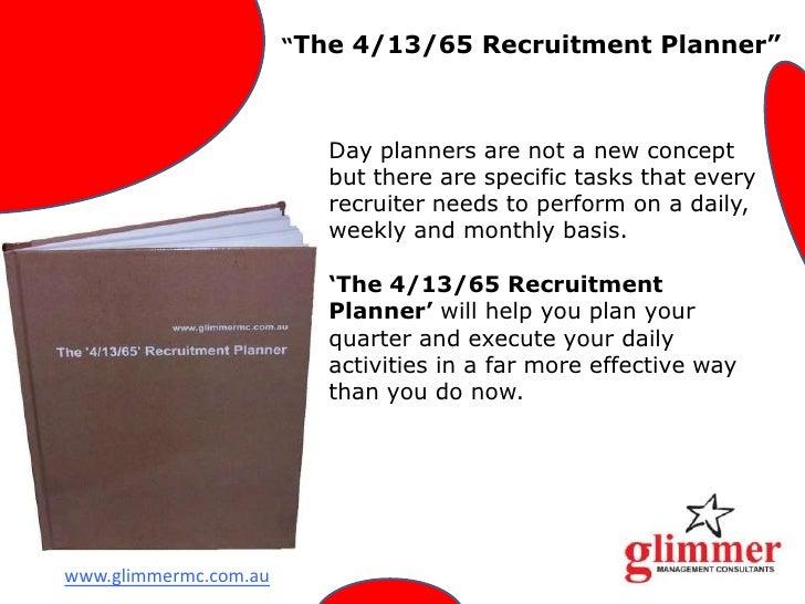The 4 13 65 Recruitment Planner