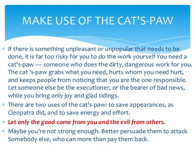 Laws Of Power Cat S Paw