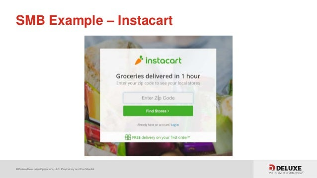 © Deluxe Enterprise Operations, LLC. Proprietary and Confidential. SMB Example – Instacart