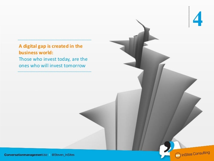 4A digital gap is created in thebusiness world:Those who invest today, are theones who will invest tomorrow