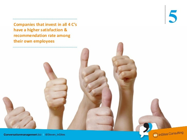 Companies that invest in all 4 C'shave a higher satisfaction &                                     5recommendation rate am...