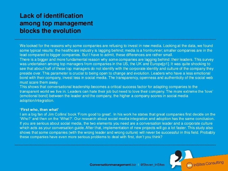 Lack of identificationamong top managementblocks the evolutionWe looked for the reasons why some companies are refusing to...