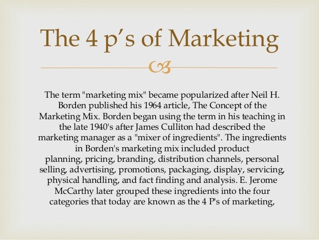 4 p s marketing ibm Purdue extension ec-730 marketing's four p's: first steps for new entrepreneurs cole ehmke, joan fulton, and jayson lusk department of agricultural economics.