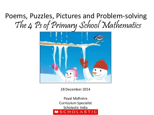 EDUCARNIVAL 2014 at IIT Delhi- The 4 ps of primary school maths by Pa…