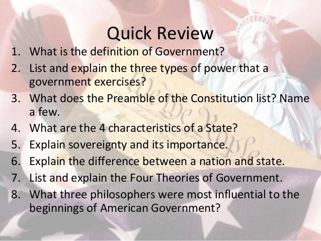 what are the four theories of government