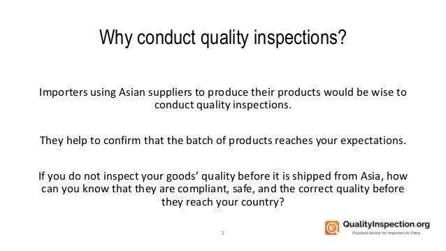 The 4 Types of Quality Inspection Services Slide 2