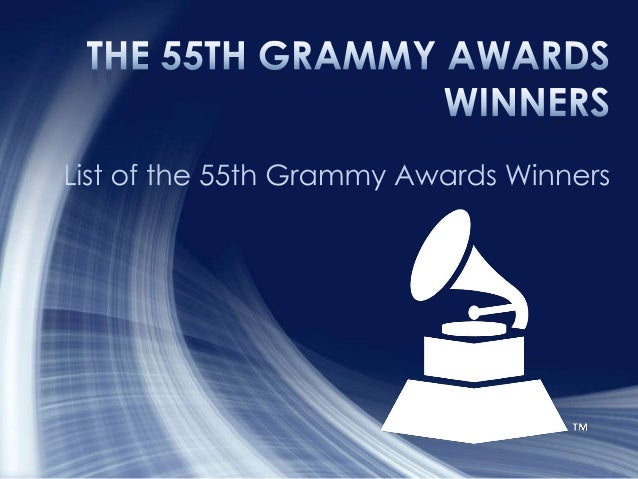 • 1. Record Of The Year  Winner  Somebody That I Used To Know  Gotye Featuring Kimbra  Wally De Backer, producer; Wally De...