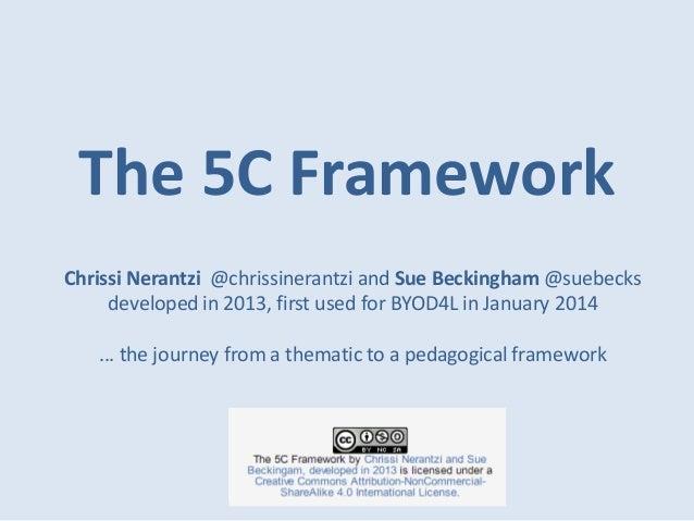 The 5C Framework Chrissi Nerantzi @chrissinerantzi and Sue Beckingham @suebecks developed in 2013, first used for BYOD4L i...