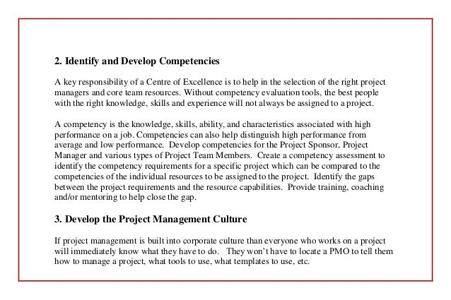 at t project management center of excellence Don't let establishing your coe get in the way of achieving  projects rather, the  benefits the coe provides to each project are primarily in the areas of project.
