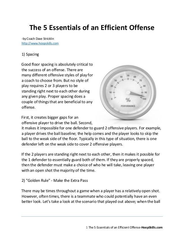 1The 5 Essentials Of An Efficient Offense HoopSkillsThe