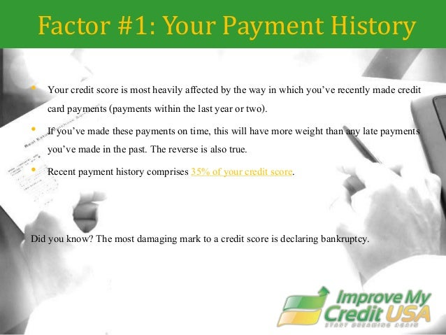 factors affecting loan payment If you make your payments on-time, use less than 20% to 30% of your  the total  amount of your mortgage loan – and thus to some degree the.