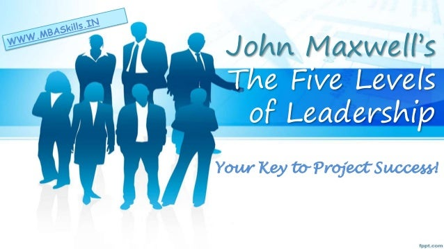 The 5 levels of leadership byJohn Maxwell
