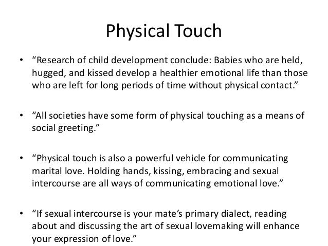 Touch As A Love Language