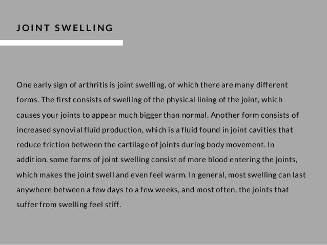 The 5 Main Symptoms of Arthritis Slide 3