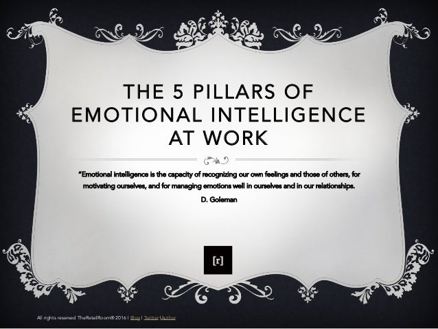 significance of emotional intelligence at work The importance of emotional intelligence in the workplace: why it matters more than personality by mike poskey emotional intelligence quotient, or eq, is a term that is being used more and more within human resources departments and that is making its way into executive board rooms.