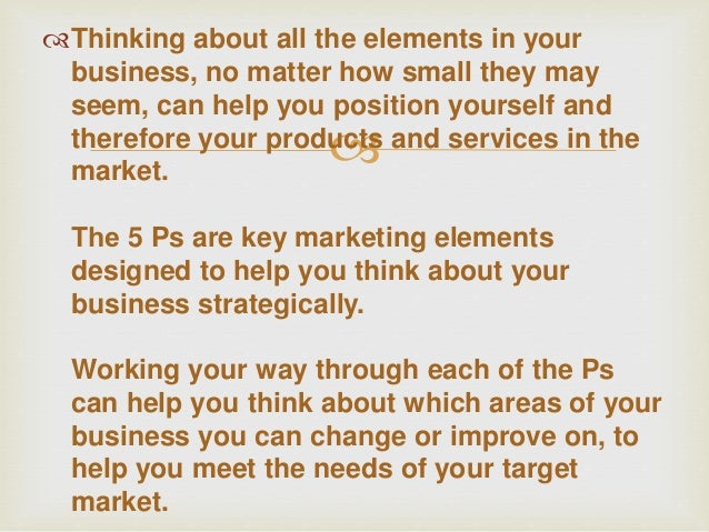The 5 ps of marketing