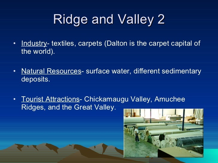 Ridge And Valley Region Natural Resources