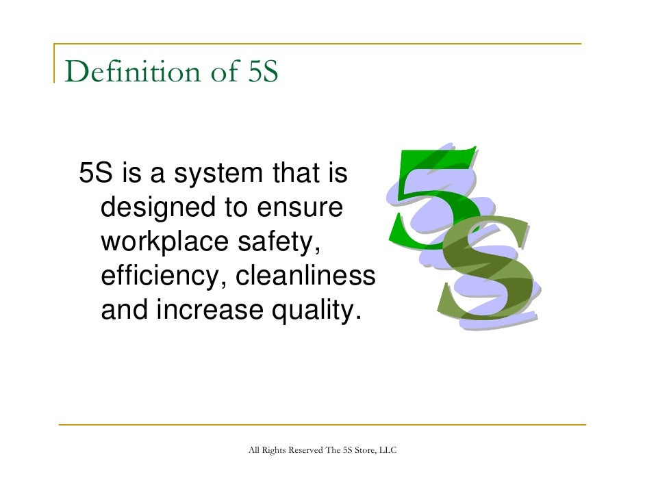 the 5s store 5s training presentation, Powerpoint templates