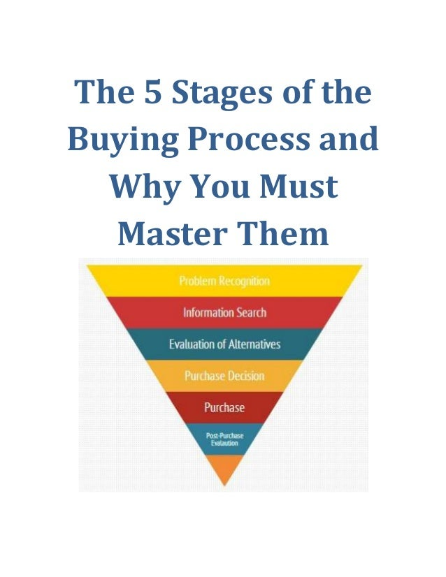 The 5 Stages Of The Buying Process And Why You Must Master