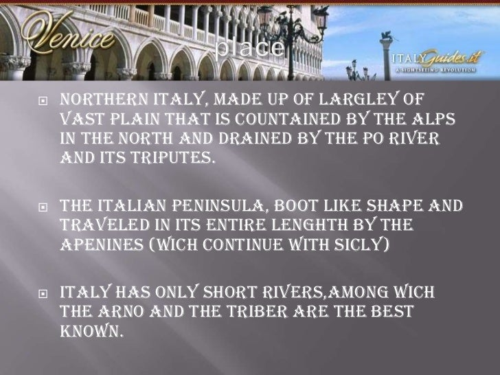 italy 5 themes of geography region