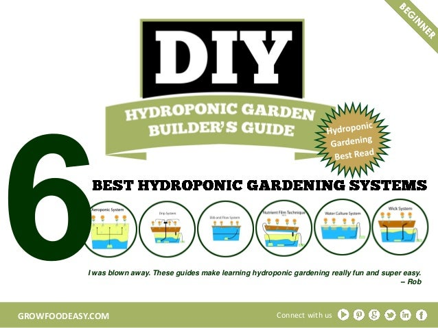 GROWFOODEASY.COM I was blown away. These guides make learning hydroponic gardening really fun and super easy. -- Rob Conne...
