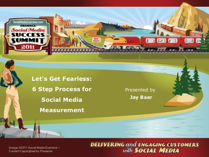 Let's Get Fearless: 6 Step Process for Social Media Measurement Presented by  Jay Baer Design ©2011 Social Media Examiner ...