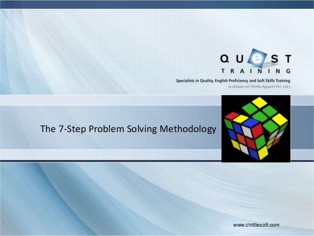 The 7-Step Problem Solving Methodology   Space for Client logo                                          www.chittlesoft.com