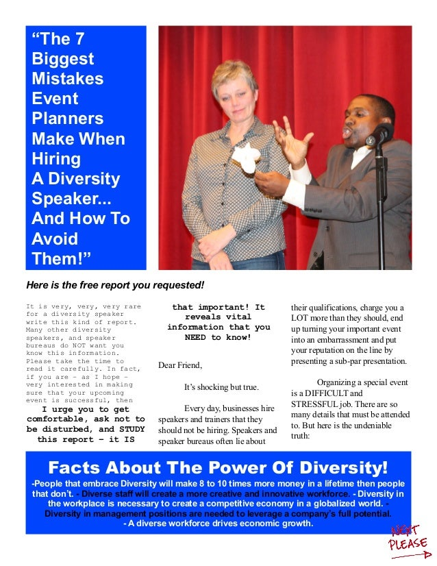 Facts About The Power Of Diversity! -People that embrace Diversity will make 8 to 10 times more money in a lifetime then p...