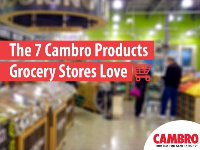 For more information on Cambro products, please visit www.cambro.com. Contact a local Cambro Sales Representative at www.c...