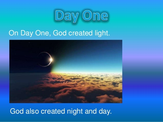 God Made Day And Night Crafts