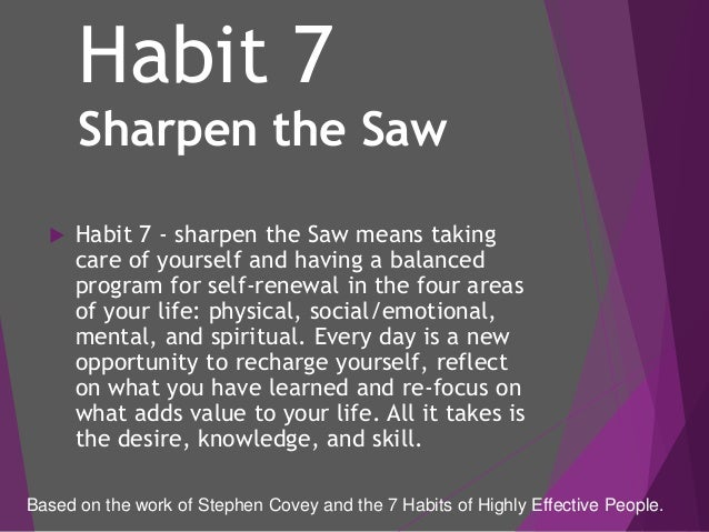 The 7 habits in GBS