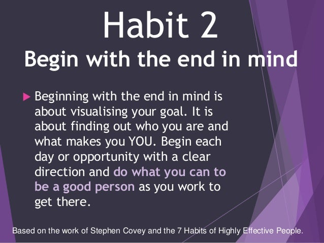 Habit 1 Be Proactive Based On The Work Of Stephen: The 7 Habits In GBS