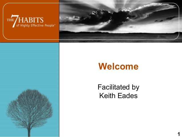 Welcome Facilitated by Keith Eades 1