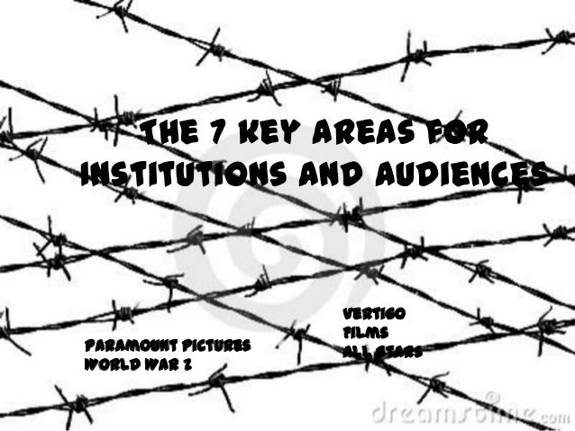 The 7 key areas for Institutions and Audiences  Paramount Pictures World War Z  Vertigo Films All Stars