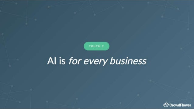 AI is for million dollar existing problems T R U T H 3