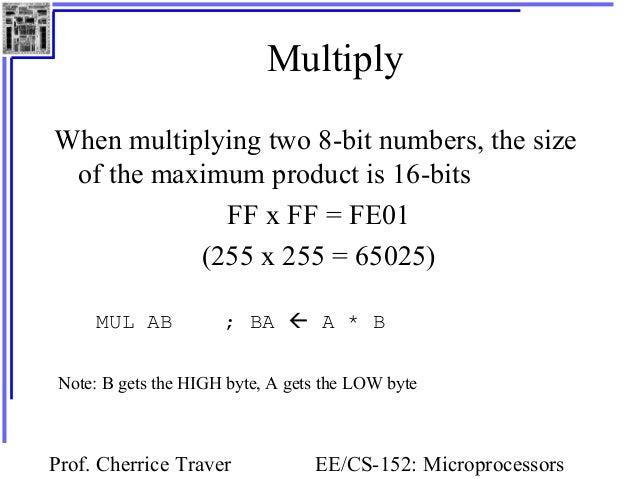 matrix in assembly 8086 mxn dimension