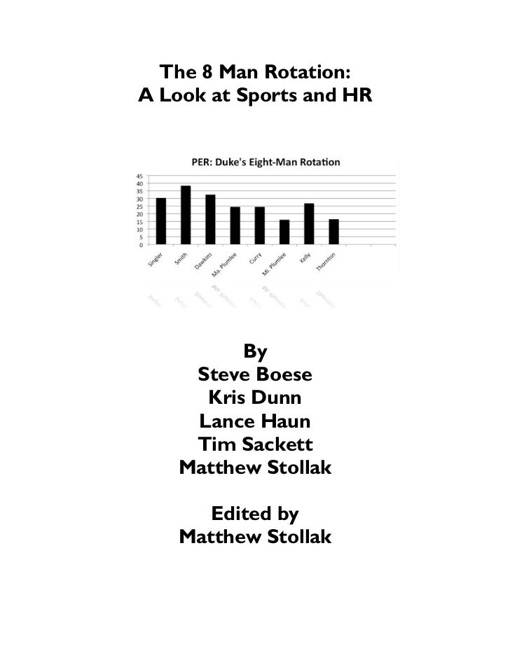 The 8 Man Rotation:A Look at Sports and HR          By     Steve Boese      Kris Dunn     Lance Haun     Tim Sackett    Ma...