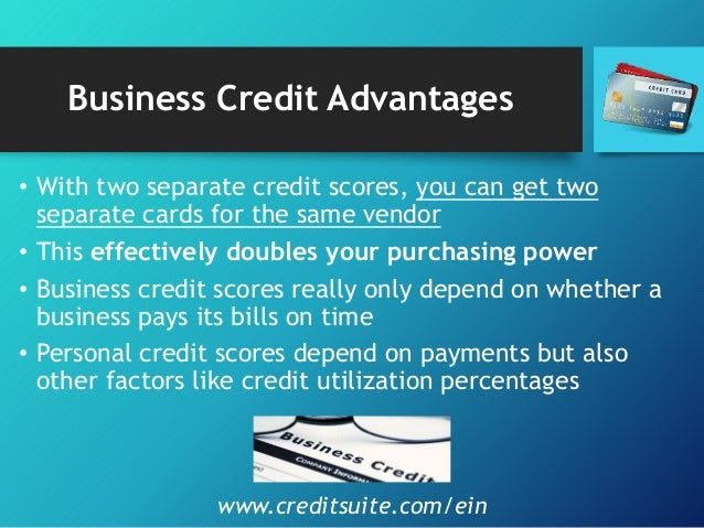 The 8 steps to build business credit with ein not linked to personal business credit advantages reheart Choice Image