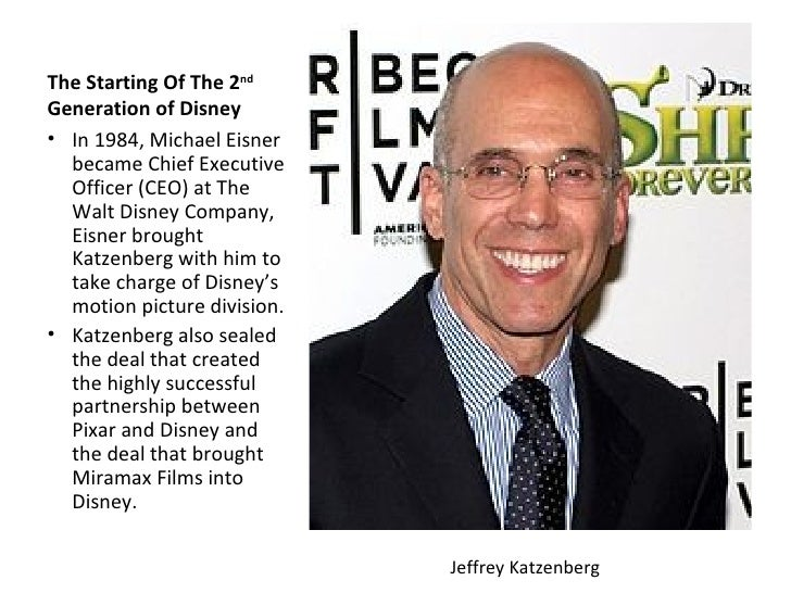 The Starting Of The 2ndGeneration of Disney• In 1984, Michael Eisner  became Chief Executive  Officer (CEO) at The  Walt D...